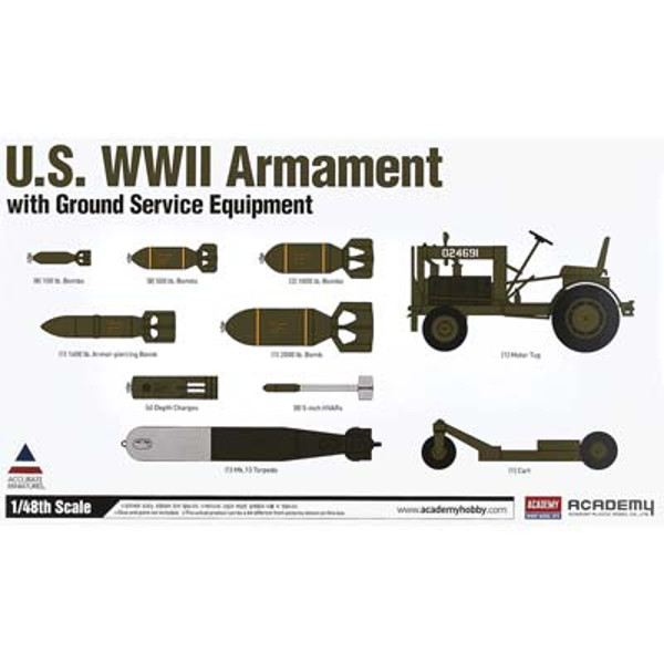1/48 US WWII Armament w/Ground Service Equip