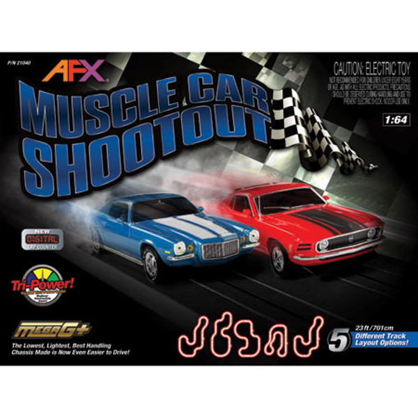 AFX Muscle Car Shootout w/Lap Counter Raceway Set
