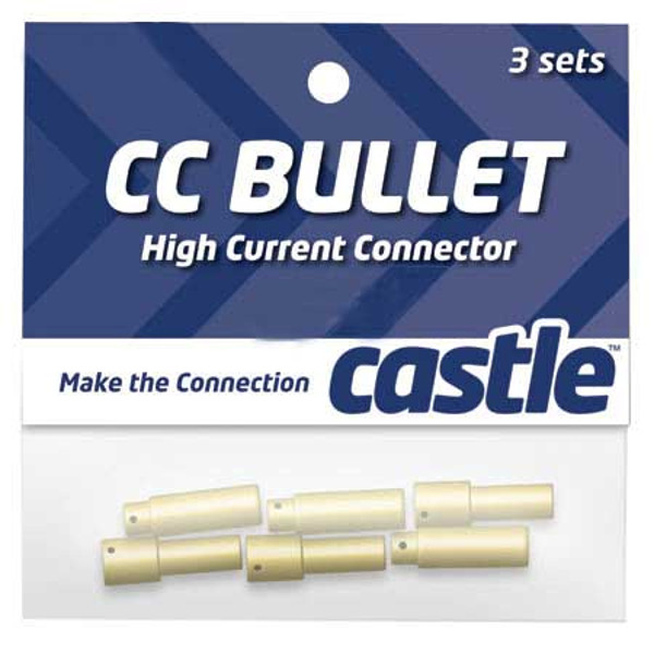 Castle Bullet Connector Set: 4mm (3 Pair)