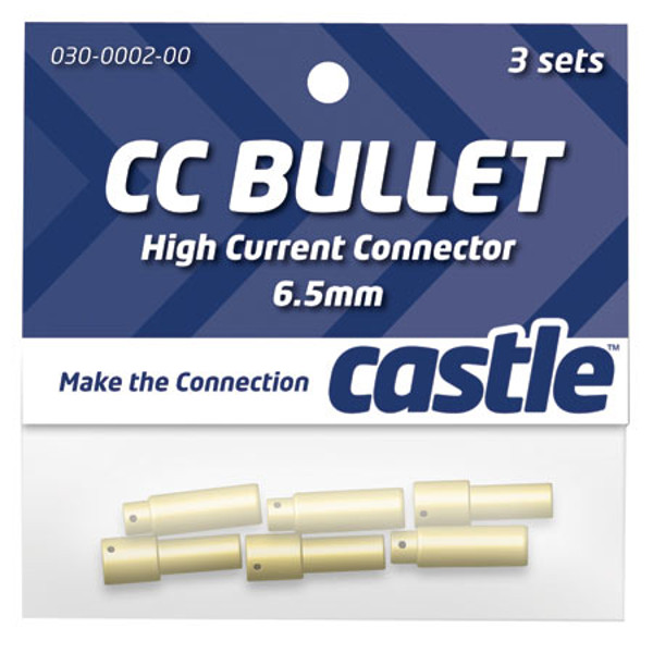 Castle Bullet Connector Set: 6.5mm (3 Pair)