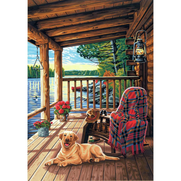Log Cabin Porch PBN 14x20