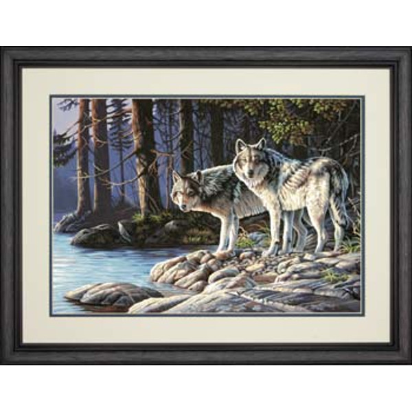 Gray Wolves PBN 20x14