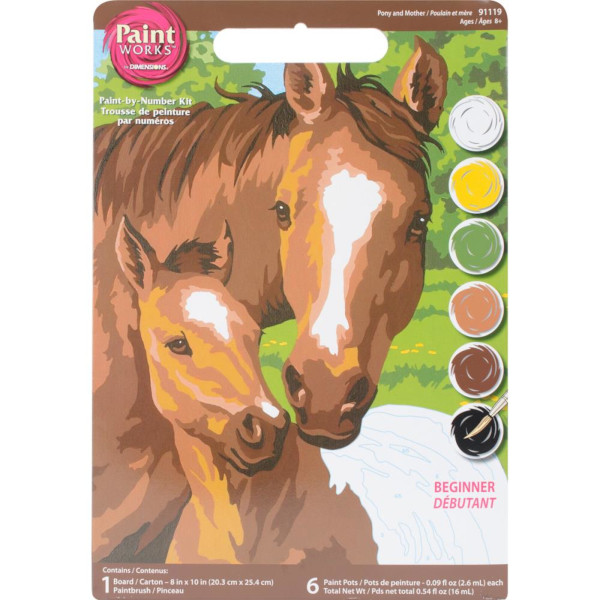 Pony & Mother PBN 8x10