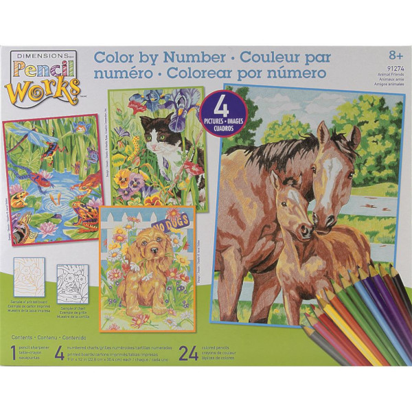 4 Pack Color by Number Art Kits