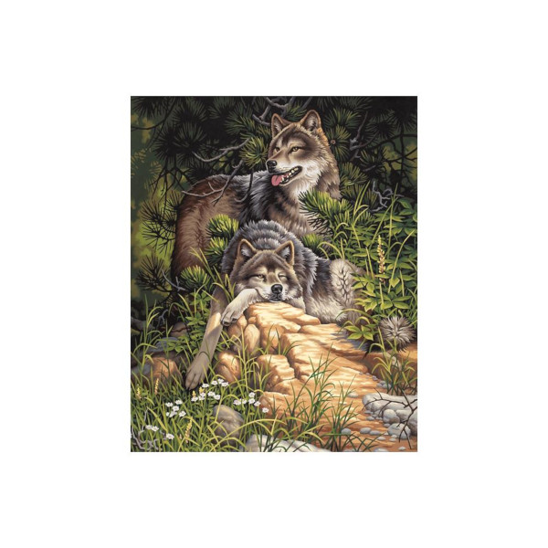 Wild And Free Wolves PBN 16x20