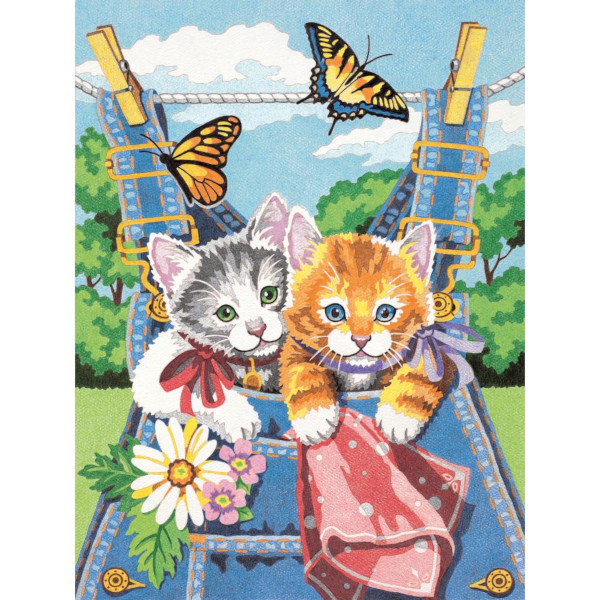 Kittens Color by Number Art Kit