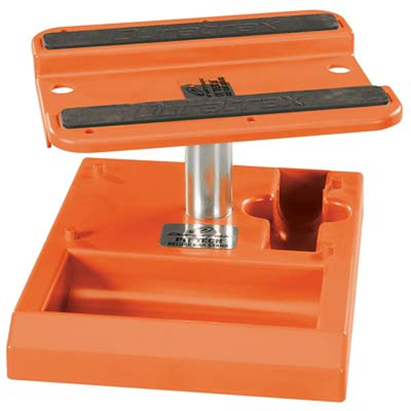 Pit Tech Deluxe Car Stand: Orange