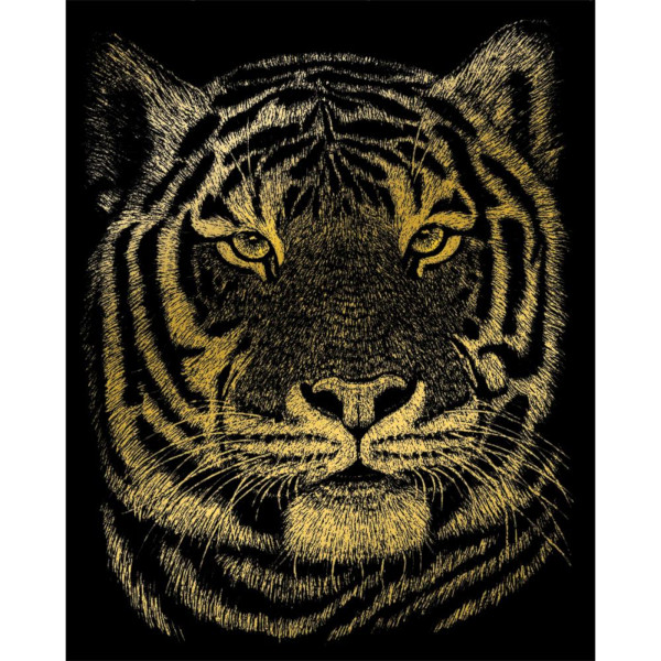 Bengal Tiger Gold Foil Engraving Art Kit