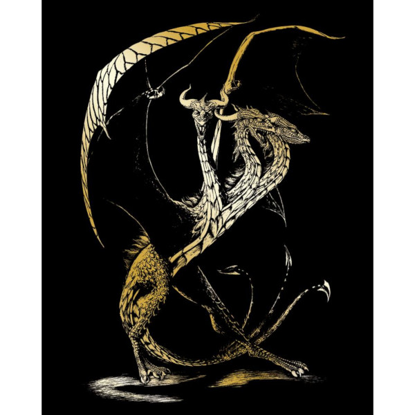 3 Headed Dragon Gold Foil Engraving Art Kit