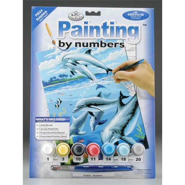 Dolphins Paint by Number