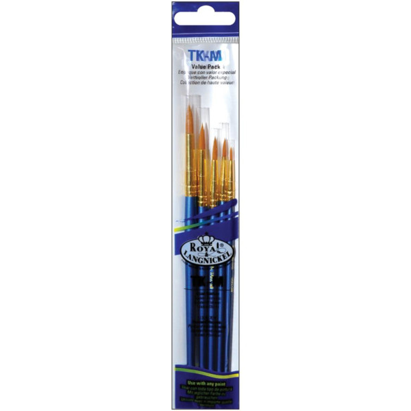 Gold Taklon Value Pack Brush Set