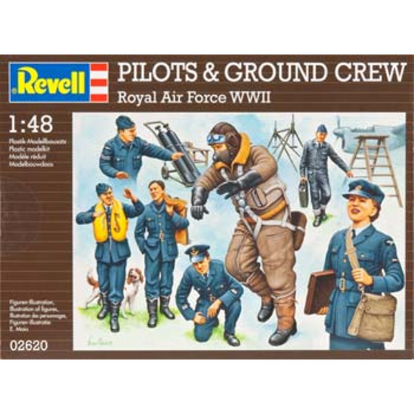 1/48 Pilots/Ground Crew RAF WWII