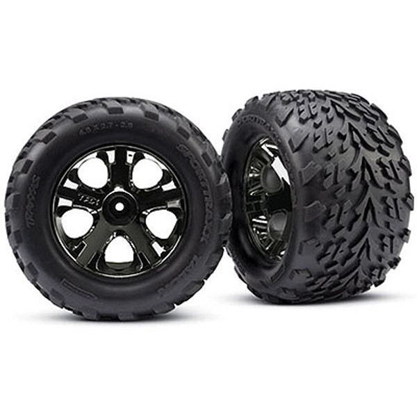 Traxxas All-Star Blk Chrm Whls Talon Tires