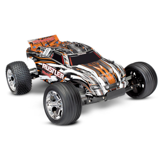 Traxxas Rustler w/TQ Radio: ORANGE