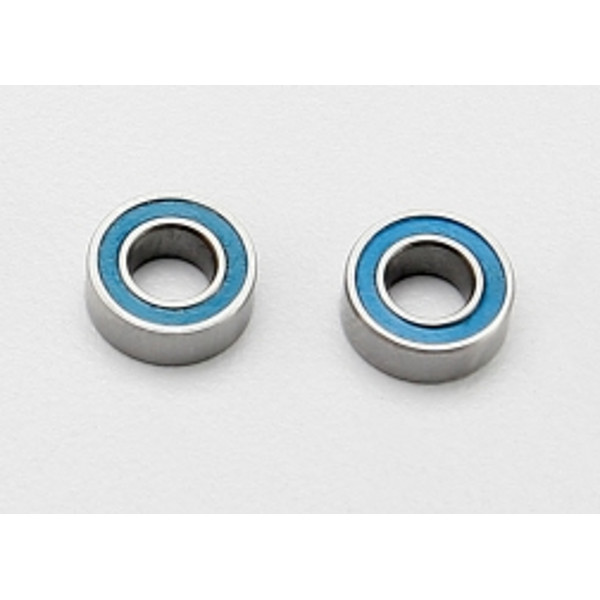 Ball bearings, blue rubber sealed (4x8x3mm) (2)