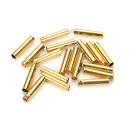 Gold Bullet Connector, Female, 4mm